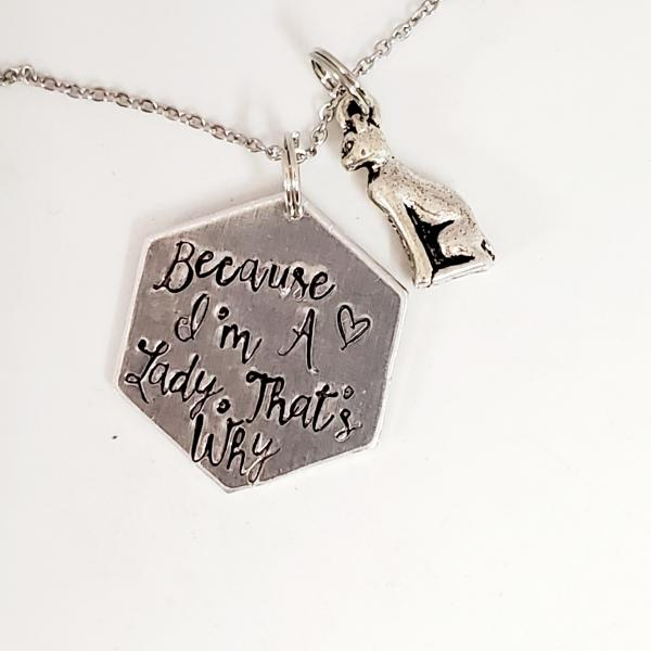 Because I'm a lady, that's why - Aristocats inspired - Single Charm Necklace picture