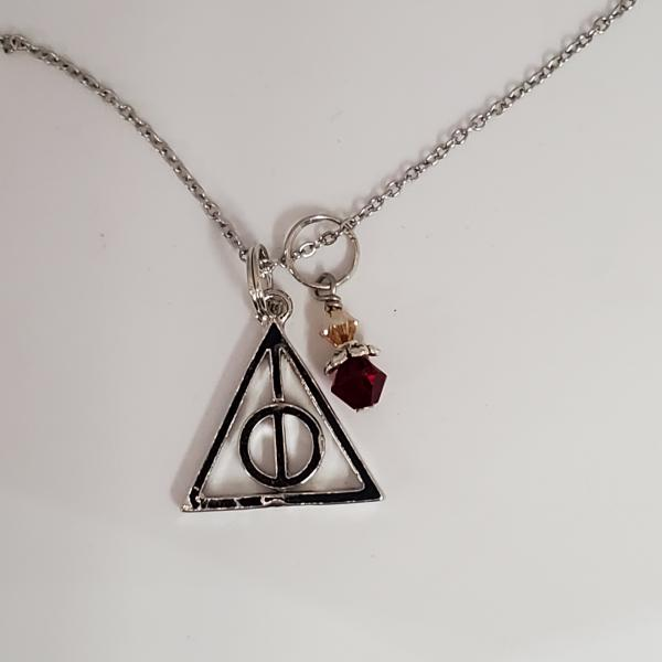 Gryffindor Deathly Hallows - Harry Potter Inspired - single charm necklace