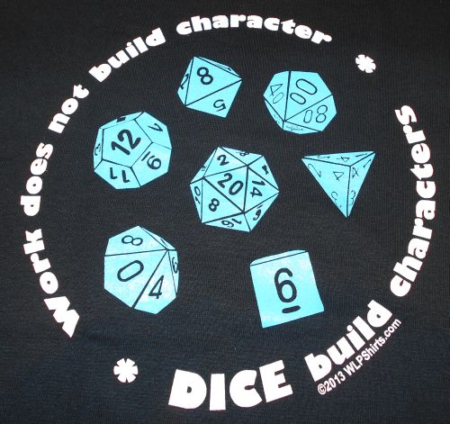 """Dice Build Character"" T-shirt"