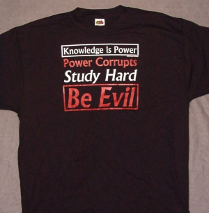 """Knowledge is Power"" T-shirt"