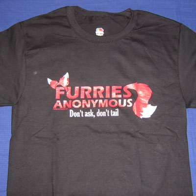 """Furries Anonymous"" T-shirt"