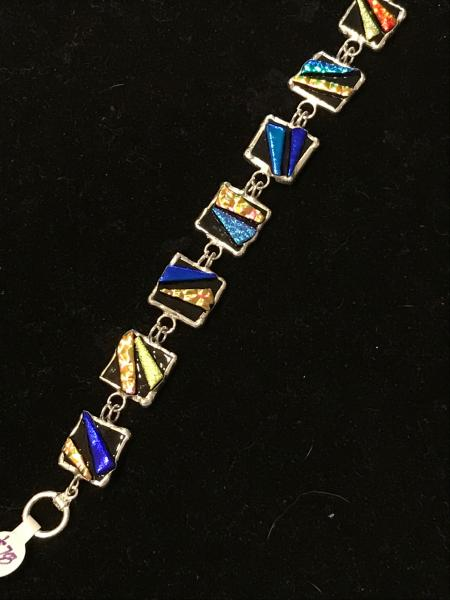 Bracelet - Multi Color Abstract Link