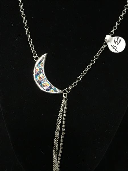 Necklace - Moon Design in Rainbow Colors