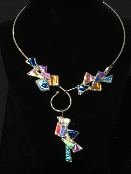 Collar - Multi Color Wire Collar with Pendant