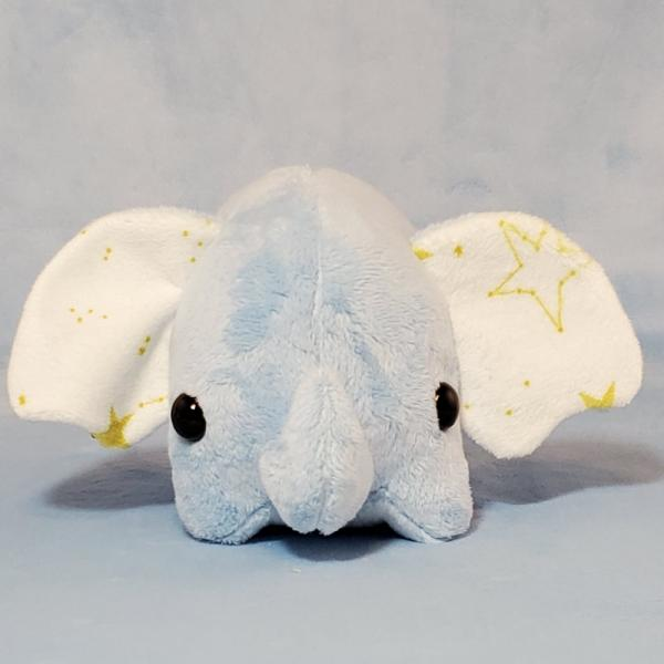 Elephant with Stars: Blue White or Gray