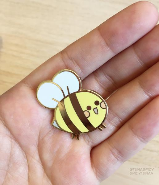 Bee Happy - Enamel Pin 1.25""