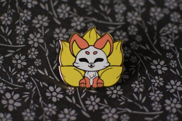 Warm Kitsune Japanese Lore Enamel Pins