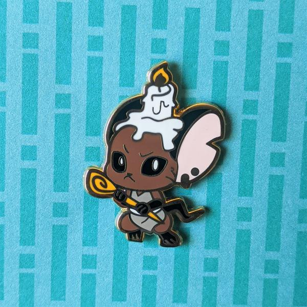Brown Kobold Enamel Pin