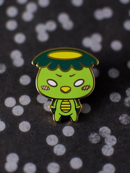 Green Kappa Japanese Lore Enamel Pins