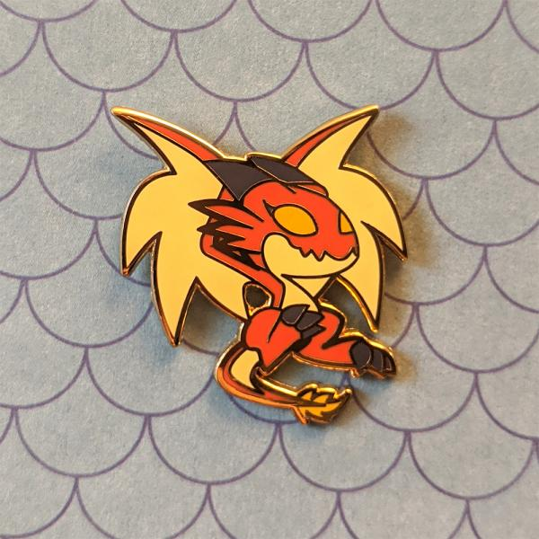 Red Wyvern D&D Enamel Pin picture