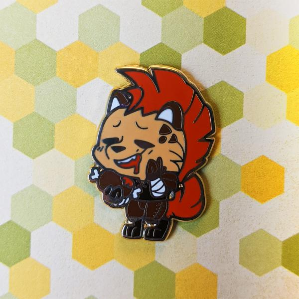 Brown Gnoll D&D Enamel Pin